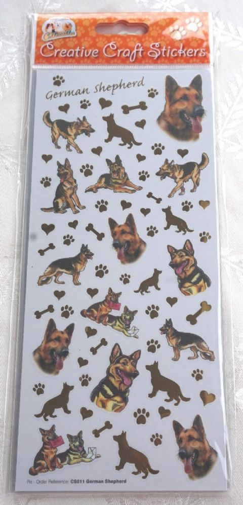 GERMAN SHEPHERD ALSATION - CRAFT STICKERS SCRAPBOOKING CARD CRAFT